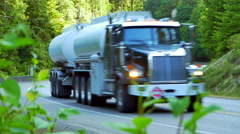 4K Semi Truck, Highway Delivery Transport, Traffic with Automobiles Stock Footage
