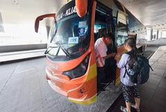 Bus station at Kuala Lumpur International Airport 2 Stock Photos