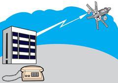 The telecommunications system Stock Illustration