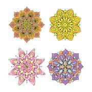 Colorful round mandala ornament Stock Illustration