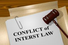 Conflict of Interest Law legal concept Stock Illustration