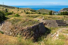 Redoubts of nineteenth century. Balaklava in Crimea Stock Photos