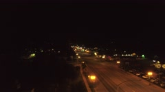 Aerial shot of rural town lights at night 2 Stock Footage