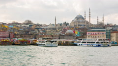 Timelapse of the Bosporus in Istanbu - stock footage
