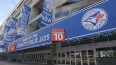 Rogers Centre or SkyDome, home of the Toronto Blue Jays. Stock Footage