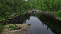La Manche Water Hole Stock Footage