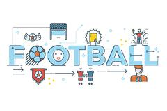 Football word lettering Piirros