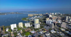 Aerial Of Buildings In Sarasota's Historic District Downtown Stock Footage