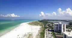 Aerial of Lido Key Beach in Sarasota Florida Stock Footage