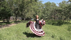 Spanish Dance in Park Stock Footage