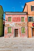 Urban decay on Burano, Venice, Italy Stock Photos