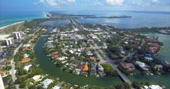Aerial of Lido Key Buildings in Sarasota Florida Stock Footage