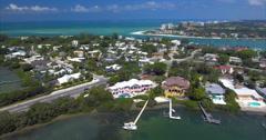 Aerial of Lido Key Island in Sarasota Florida Stock Footage