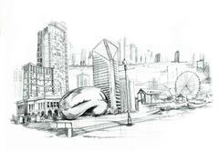 Chicago city illustartion Piirros