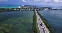 Aerial of Lido Key Island Connection Roads in Sarasota Florida Stock Footage