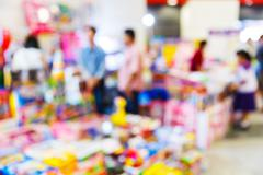 Blur people shopping in department store - stock photo