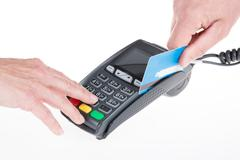 Credit card payment, buy and sell products service Stock Photos