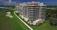 Aerial of Lido Key Building in Sarasota Florida Stock Footage