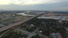 Aerial View of the Houston Ship Channel Stock Footage