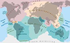 Tectonic Plates SPANISH TEXT Stock Illustration
