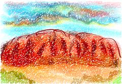 Ayers rock Stock Illustration