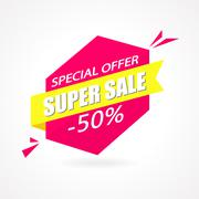Super Sale Weekend special offer poster, banner background. - stock illustration