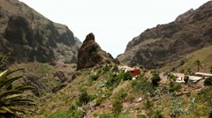Masca Canyon (Canarias Tenerife) Stock Footage