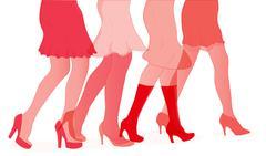 Womens Duotone Legs - stock illustration