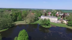 Flight over vorpommern - germany by drone Stock Footage