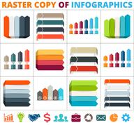 Arrows infographic, diagram, graph, presentation, chart. Business concept with 3 Piirros