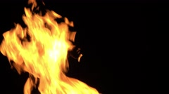 Real Fire clip - big flame - realistic fire effect Stock Footage