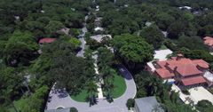 Aerial of Lido Key Homes in Sarasota Florida Stock Footage