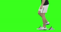 Athlete man running from the starting block Stock Footage
