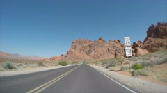 Valley Of Fire State Park Vehicle Point of View Time Lapse Stock Footage
