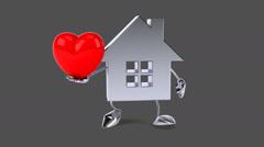 Fun house - Digital animation - stock footage