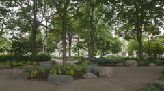 Toronto Music Garden park in the Harbourfront area of Toronto, Canada. Stock Footage
