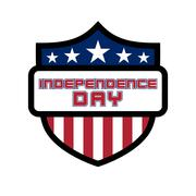 American Independence Day flag shield design Piirros