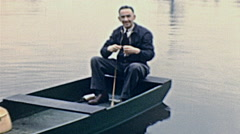 USA 1941: old men rowing Stock Footage
