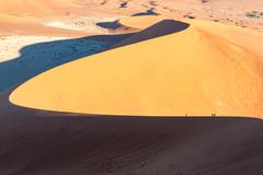 Big Daddy Dune, Sossusvlei, Namibia, after sunrise - stock photo