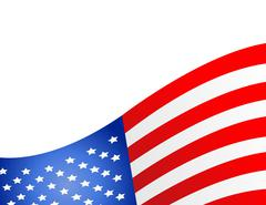 United State Of America flag isolated vector Stock Illustration