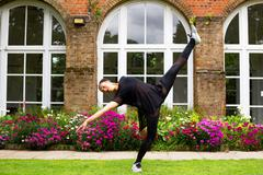 A jazz dancer performing outdoors Stock Photos