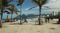 ipanema beach from arpoador in rio de janeiro, brazil - stock footage