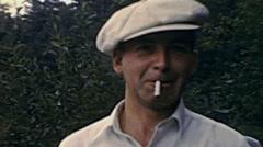 USA 1941: man smoking a cigarette Stock Footage