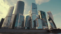 Moscow City timelapse - stock footage