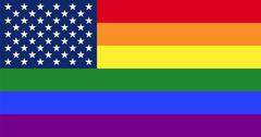 LGBT pride flag with star field from US Flag Stock Illustration