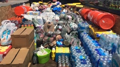 Relief supplies for flood victims in West Virginia (HD) Stock Footage