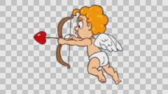 Shooting Cupid. Colour version. Stock Footage