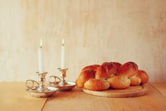Sabbath image. jewish religion concept Stock Photos