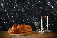 Sabbath image. jewish religion concept Stock Photos