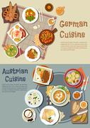 German and austrian hearty and comfort food icon Stock Illustration